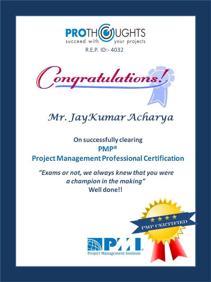 Atractivo Pmp Certification Ahmedabad Ornamento - Certificado Actas ...