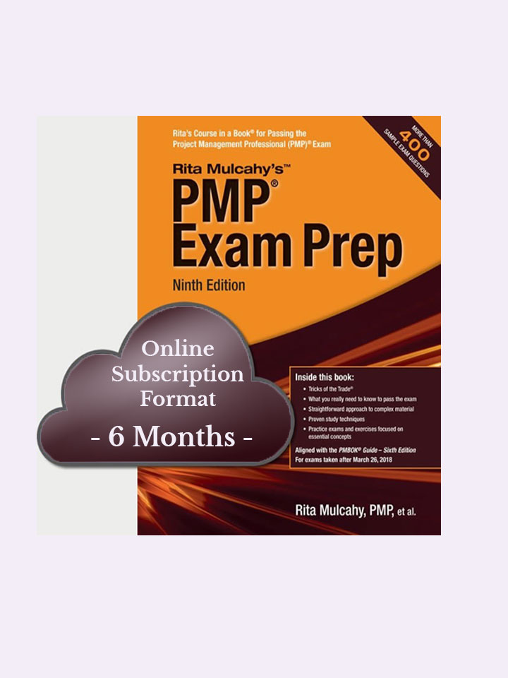 Rita Mulcahy's PMP® Exam Prep, 9th Edition – Cloud Based – 6 Month